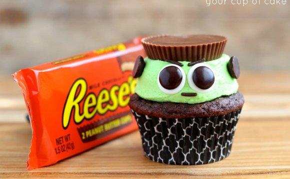 Resse s Frankenstein Cupcakes