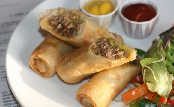 Cheeseburger Spring Roll