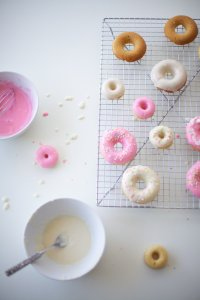 Doughnut Glaze and Doughnuts on a Cooling Rack