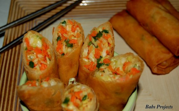 Simple Vegetable Spring Rolls recipe