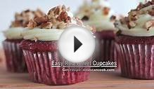 Easy Red Velvet Cupcakes Recipe w/ Cream Cheese Frosting
