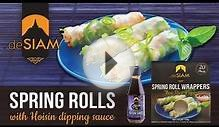 Spring Rolls with Hoisin dipping sauce